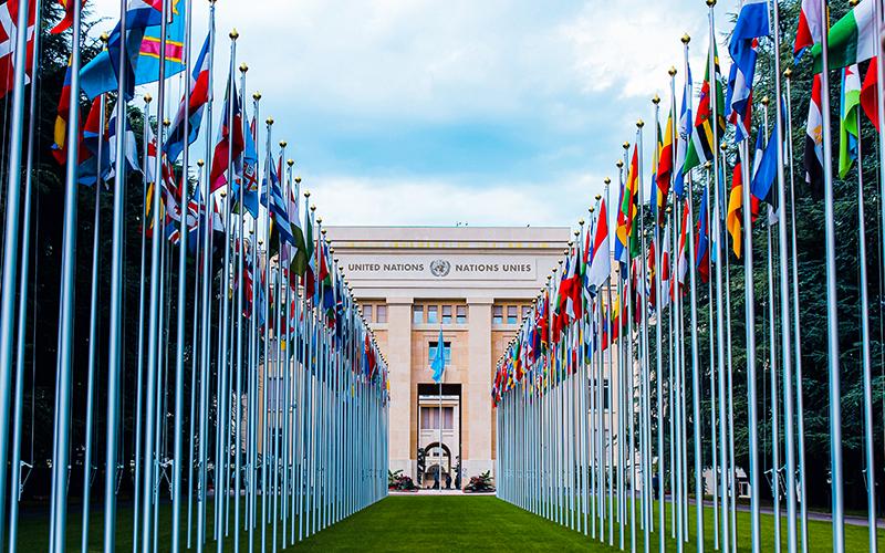 スイスの国連の建物