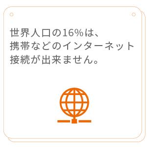 世界人口の16%は、携帯ブロードバンド・ネットワークにアクセスできません