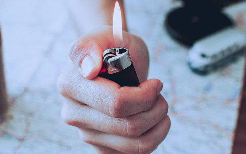プラスチック製のライター