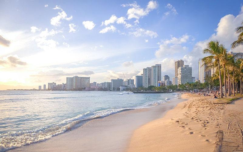 ハワイの海岸線